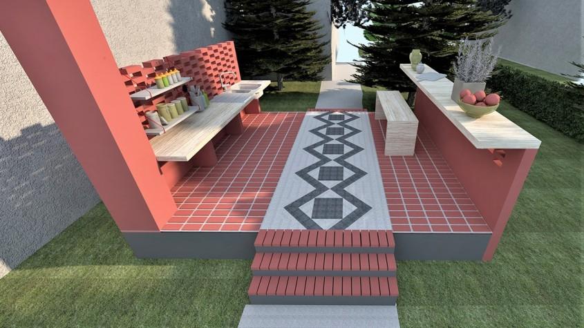 O bucătărie de vară cu stil: Amenajare în stil rustic