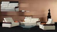 Set canapele din piele cu brate din lemn - ROWA