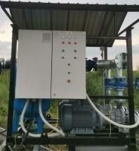 Statie de pompare irigatii 2 x 150 mch la 65 mCA 2 x 45 kW cu