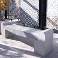 Banca gradina - Granit Rock Star Grey (165 x 40 x 50cm) PIATRAONLINE  AG-1049