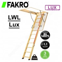 Scara din lemn pentru acces in pod - FAKRO LWL Lux