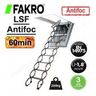 Scara metalica tip pantograf pentru acces in pod, rezistenta la foc - FAKRO LSF