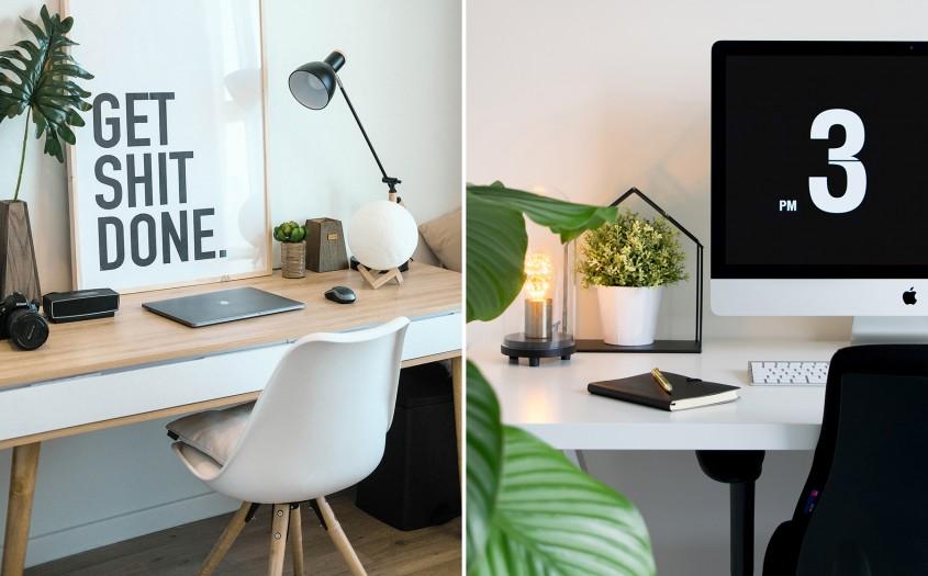 Cinci condiții de îndeplinit pentru a avea un birou de vis într-un spațiu mic