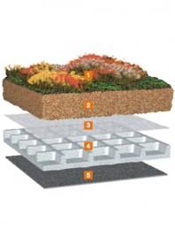 Pachet pentru acoperis cu vegetatie - Bauder Gründach-Paket light 70 kg