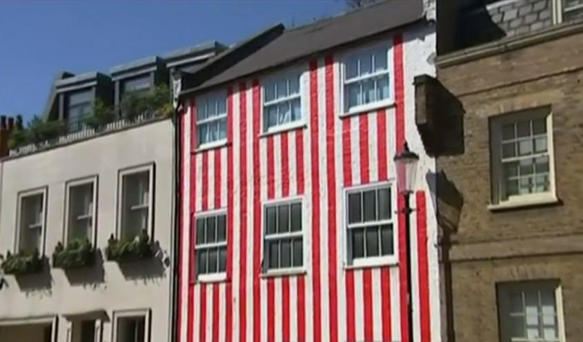 Casa in dungi rosii (Londra, Marea Britanie)