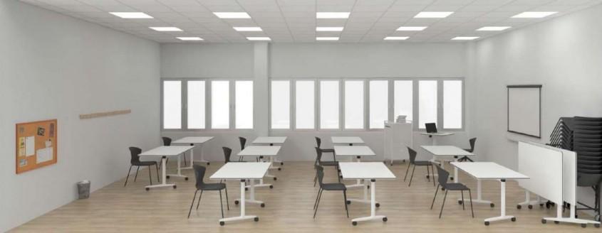 Exemplu de reamenajare a clasei în contextul reducerii cu 50% a numărului de elevi dintr-o clasă