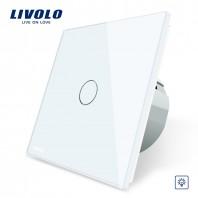 Intrerupator cu variator, cu touch Livolo din sticla - VL-C701D