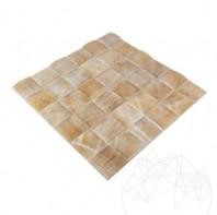 Mozaic Onix Honey Pyramid Polisat 5 x 5cm MPN-3236