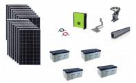 Sistem fotovoltaic hibrid Poweracu 5kwp prindere tigla