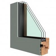 Ferestra din lemn placata cu aluminiu - NovaGlass Plus