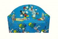 Canapea fixa MELI & MAIA, albastru, Petrecerea lui Mickey