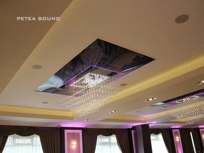 Detaliu sistem de iluminat ambiental  Galati PETEA Sound