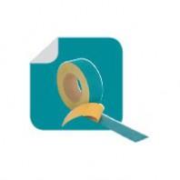 EUROBAND W - Banda autoadeziva simpla din tesatura de polipropilena cu latime de 50mm si strat