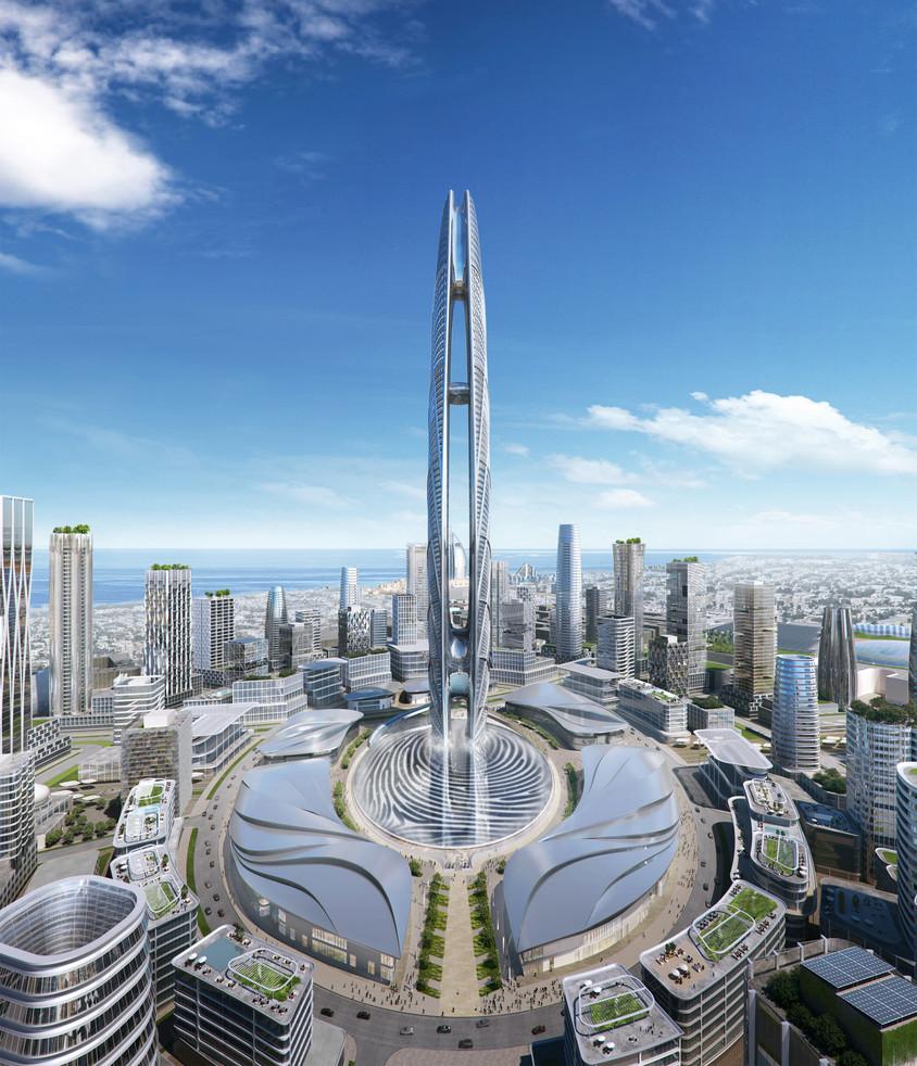 Un zgârie-nori care stă chiar pe amprenta digitală a șeicului Dubaiului
