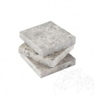 Buton Marmura Tundra Polisata 9.5 x 9.5 x 2 cm PIATRAONLINE  MPN-149