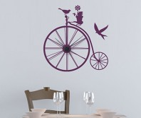 """Sticker tip ceas de perete """"Bicicleta Retro"""""""