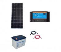 Kit cu panou fotovoltaic de 100W