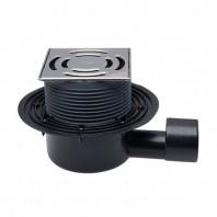 Sifon de pardoseala DN50 75 orizontal cu obturator de mirosuri PRIMUS 145x145 mm Klick-Klack 138 x