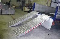 Rampa de incarcare din aluminiu cu invelis din foita de aluminiu - Metalmec M120S