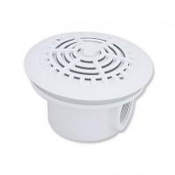 Sifon rotund din ABS alb pentru piscine cu liner