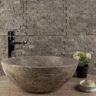 Mozaic Marmura Dark Emperador Scapitat 2.3 x 4.8cm - Lichidari Stoc MPN-2019