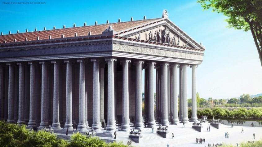 """Templul Zeitei Artemis din Efes <p>Inchinat zeitei vanatorii, a animalelor salbatice, a padurilor, a virginitatii si a fertilitatii, templul a fost construit si distrus de trei ori. Ridicat initial in secolul al VI-lea i.Hr. in orasul antic Efes de pe coasta de vest a Asiei Mici, templul a fost distrus pe rand de piromanul Herostrat, care cauta prin aceasta sa-si asigure faima, de goti si in cele din urma si definitiv de o multime de crestini, in anul 401.</p><p><br /></p><p>Magnificul templu realizat in stil ionic ar fi fost proiectat de arhitectulChersiphron, ajutat de fiul sau <span>Metagenes,</span>si finalizat 120 de ani mai tarziu de Paeonius din Efes. Printre artistii care a creat cele 127 de coloane inalte (mentionate de invatatul roman Plinius cel Batran in lucrarea """"Istorie naturala"""") de 18 metri se afla si <span data-startindex=""""346"""" data-score=""""0.5613095238095238"""" data-createdby=""""kea-2.5.1-SNAPSHOT"""" data-label=""""Scopas"""" data-thumbnail=""""http://upload.wikimedia.org/wikipedia/commons/thumb/d/dc/Meleager_Skopas_BM_GR1906.1-17.1.jpg/200px-Meleager_Skopas_BM_GR1906.1-17.1.jpg"""" class=""""entityLink"""" resource=""""http://dbpedia.org/resource/Scopas"""" property=""""http://www.w3.org/2004/02/skos/core#subject"""">Scopas</span><span>, care si-a lasat amprenta si asupra<span>Mausoleului din Halicarnas.</span></span></p>"""