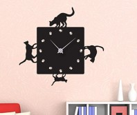 """Sticker tip ceas de perete """"Cu Pisici"""""""