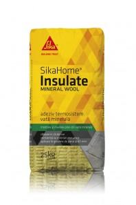 SIKAHOME® INSULATE MINERAL WOOL - Adeziv pentru termosistem cu vata minerala cu aditivi speciali pentru aderenta