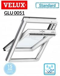 Fereastra de mansarda poliuretan Velux GLU 0051 Standard - maner sus
