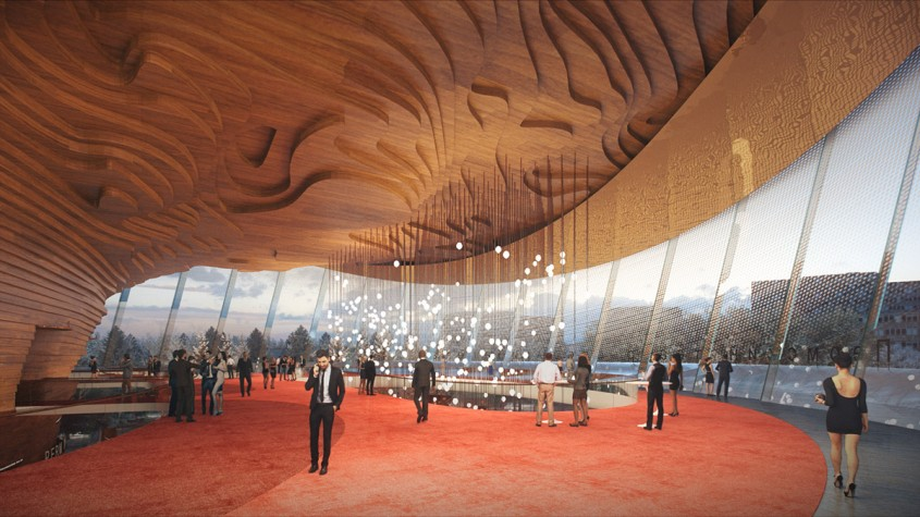 Clădirea noului teatru de operă și balet din Rusia imită mișcările dansatorilor
