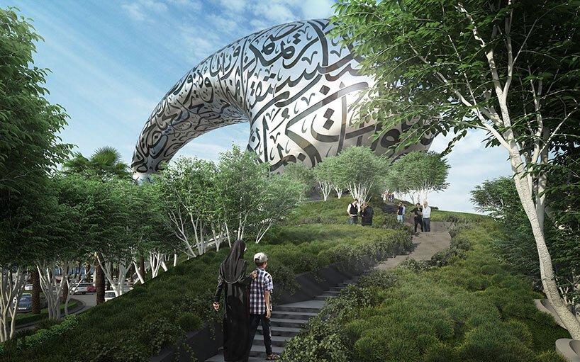 Măiestrie inginerească: Muzeul Viitorului din Dubai, un inel învăluit la propriu în poezie