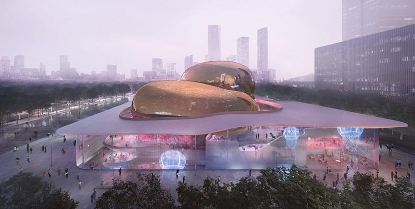 Un centru pentru spectacole ca de aur este un spectacol în sine