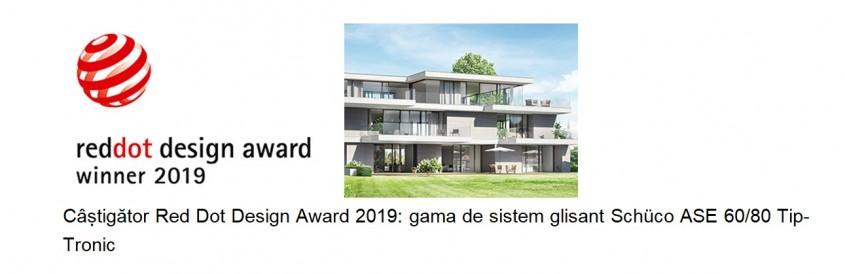 Schüco câștigă șase premii pentru design de produs la Red Dot Design Awards