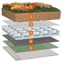 Acoperis cu vegetatie pretentioasa - Bauder Wasserspeicherplatte WSP 50