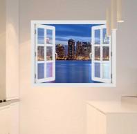 Fereastra cu efect 3D - Manhattan Skyline - 119x93 cm