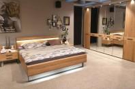 Set dormitor pat + dulap cu oglinda + noptiere WIEMANN