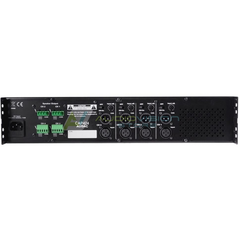 Amplificator audio 4 canale Audac CAP424