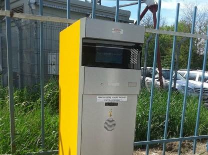 Componenta a sistemului de parcare Equinsa, instalat in parcarea Aeroportului Iasi  Iasi TRITECH GROUP
