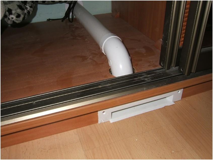 Farasul pneumatic montat in plinta dulapului