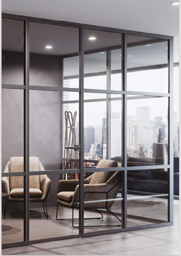 Pereți modulari din sticlă pentru compartimentarea spațiilor interioare – Moldoglass