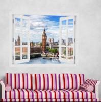 Fereastra cu efect 3D - Westminster Bridge, Londra - 119x93 cm