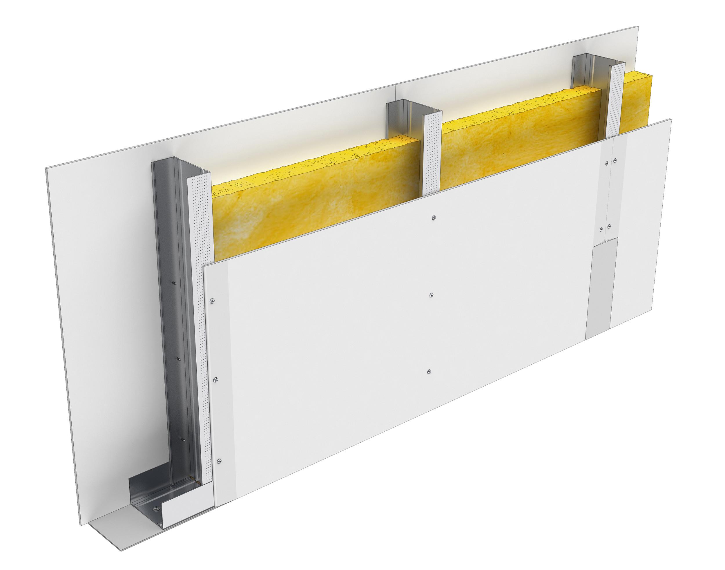 Perete D100, CW75@60, 2x1 Standard 12.5 + MW