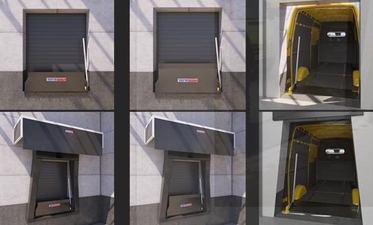 Sistem de andocare pentru depozite logistice de curierat