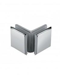KE-03-S Conector sticla-sticla 90grade, satinat