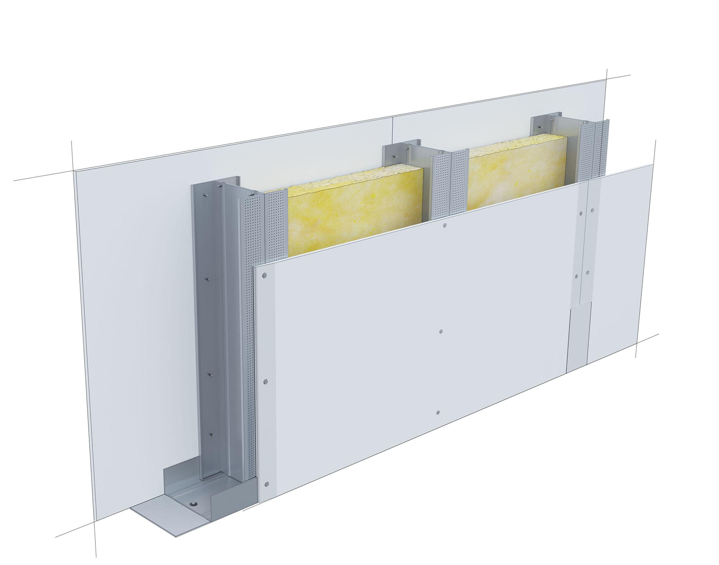 Perete D125, CW100-H@60, 2x1 Standard 12.5 + MW
