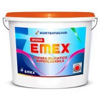 Vopsea Lavabila Silicatica Interior EMEX, Alb, Bidon 24 Kg