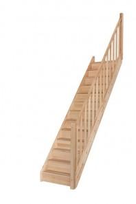 Scara pe structura din lemn Tradi Eco