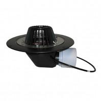 Receptor pentru acoperis DN75 110 cu iesire orizontala cu element de incalzire (10-30 W 230 V)