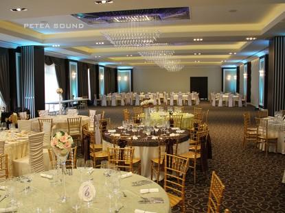 Sala de evenimente cu iluminatul ambiental  Galati PETEA Sound