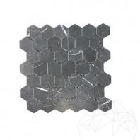 Mozaic Marmura Nero Marquina Hexagon Mata - 31.2 x 30 cm MPN-1990